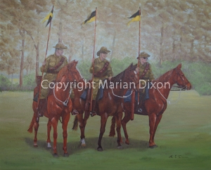 Four mounted members Bunbury 10th Light Horse Memorial Troop