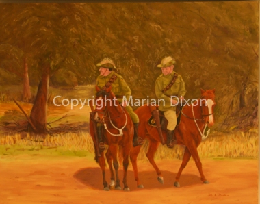 Two members Avon Valley 10th Light Horse Memorial Troop