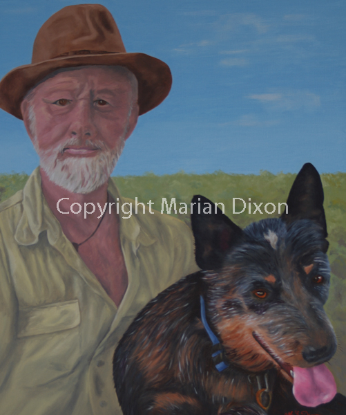 Malcolm Douglas with his Australian Cattle Dog